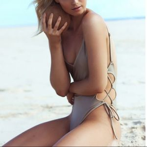 Other - Lace Up One Piece SWIMSUIT Cement Grey Florence